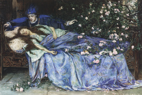 sleeping beauty by henry meynell rheum, british, 1859 - 1920
