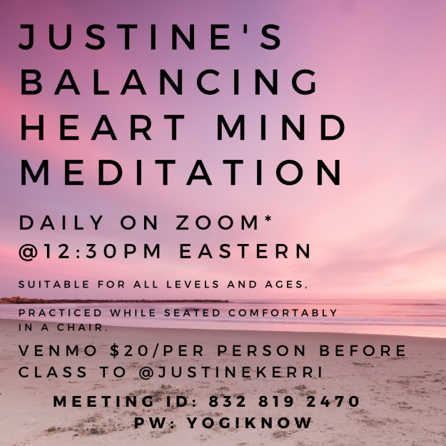 seated meditation eastern time schedule yoga meditation justine fanarof balancing balanced heart mind stress anxiety online all ages all levels