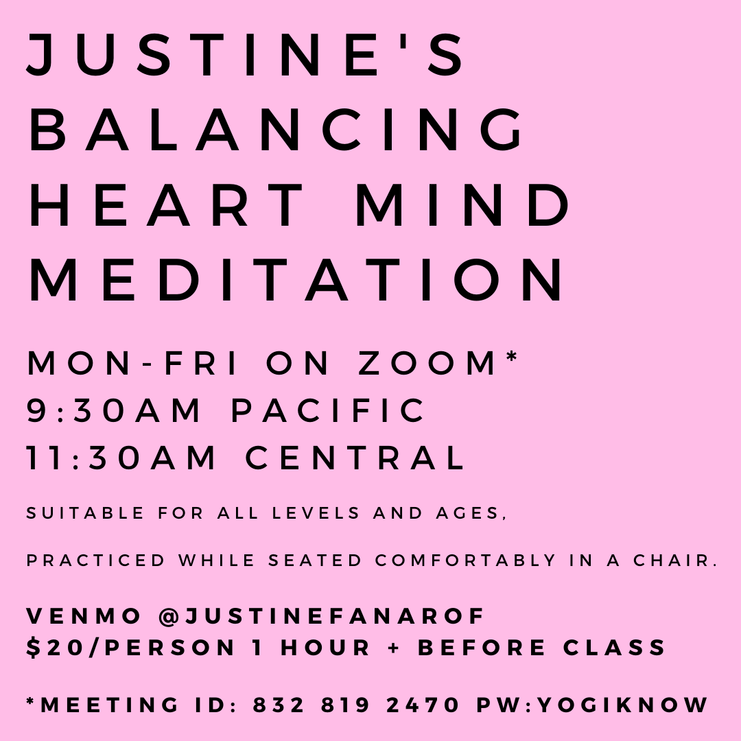 justine fanarof balancing heart mind meditation all levels comfort rest relaxation relax peace ease breath
