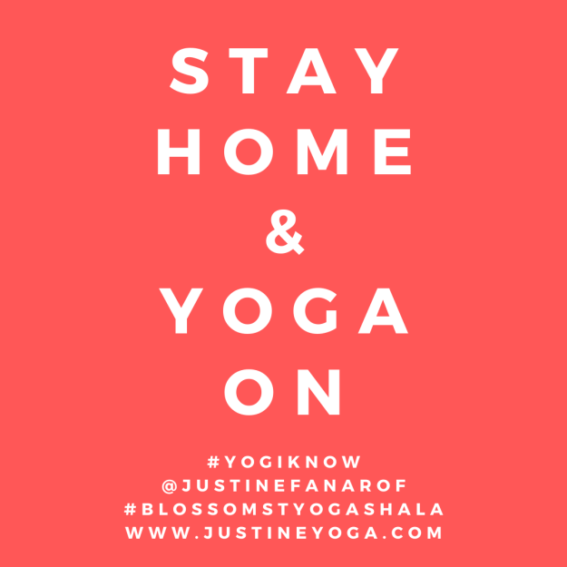 stay home and yoga on be calm texas corona virus patience dilligence care yoga meditation online houston