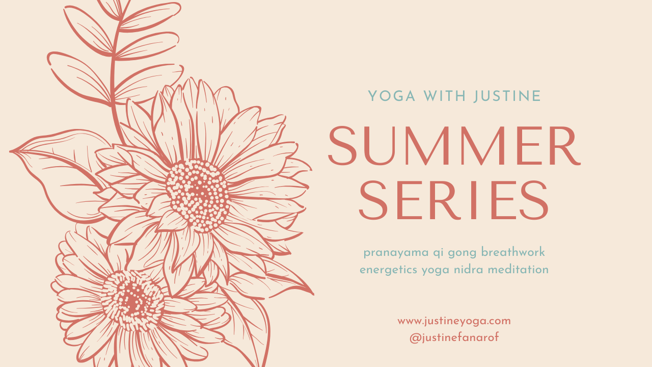 Justine Fanarof online yoga meditation yoga nidra energetics